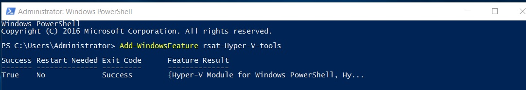 Administrator - Windows PowerShell