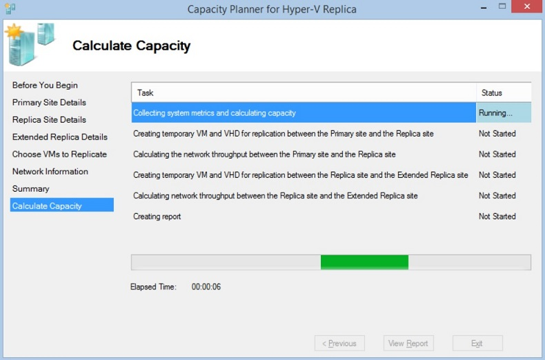 Capacity Planner for Hyper-V Replica (Hyper-V Management Tools)