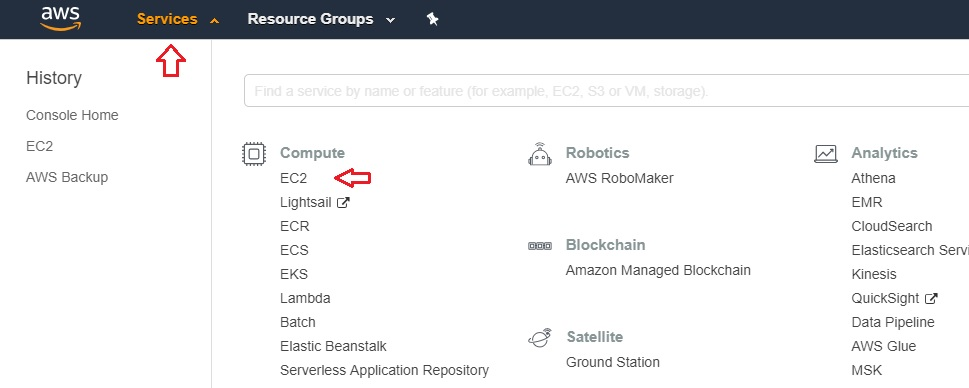 EC2 Services in AWS EC2 Backup 2
