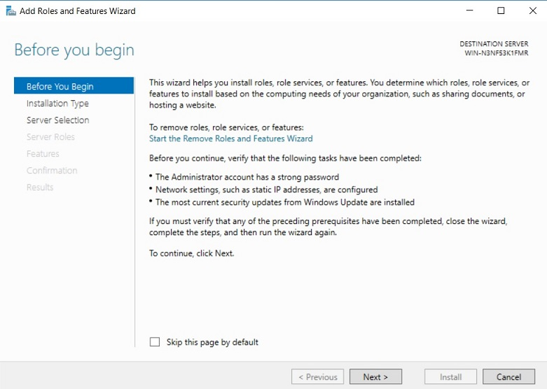Before you begin section in Hyper-V VDI deployment