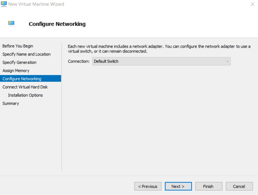 Configure Networking (Hyper-V Differencing Disks)