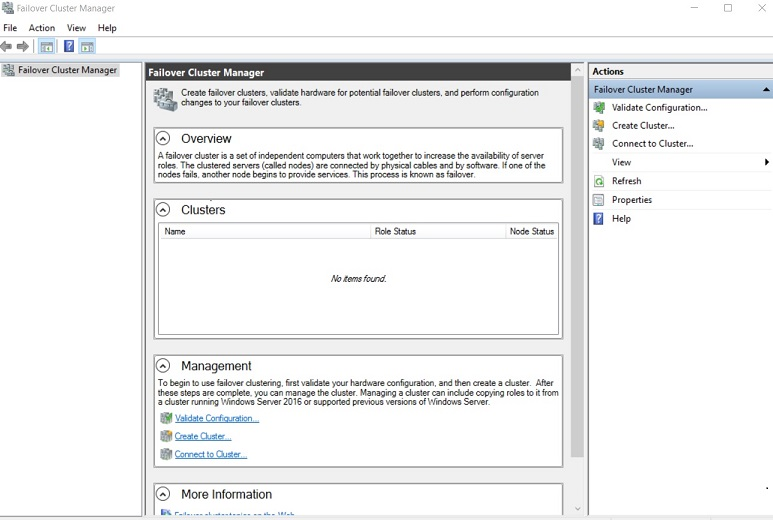 Failover Cluster Manager (Hyper-V High Availability)