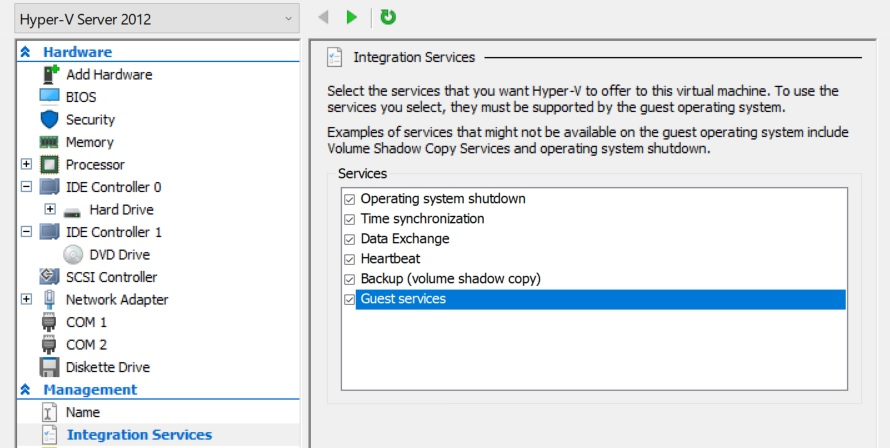 Hyper-V Integration Services (how to improve VM performance)