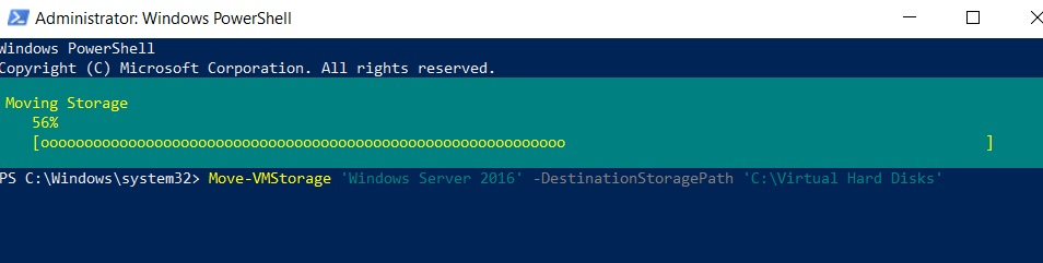 Hyper-V Storage Migration Using PowerShell