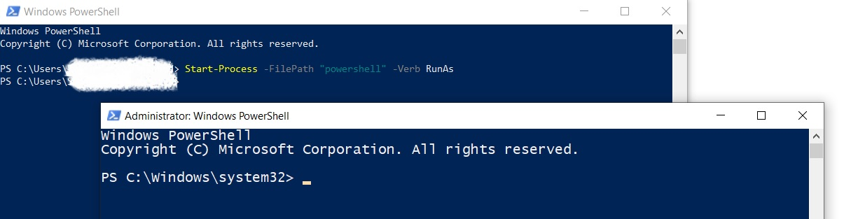 PowerShell in Administrator Mode (Hyper-V PowerShell Commands)