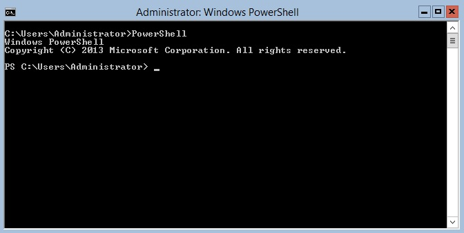 PowerShell in Windows Server Core or Hyper-V Server (Hyper-V PowerShell Commands)