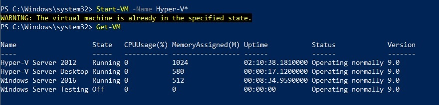 Start Specific VMs (Hyper-V PowerShell Commands)