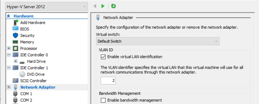 Windows Server 2016 Vlan Tagging