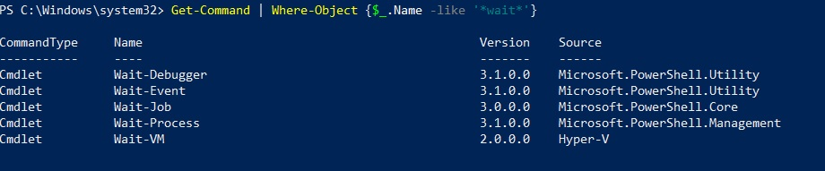 Wait Cmdlets (Hyper-V PowerShell Commands)