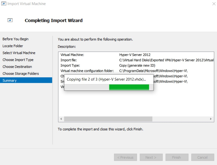 Copying VM Files (How to Import Hyper-V VMs)