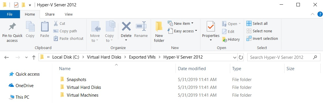 Exported VM (How to Export Hyper-V VMs)