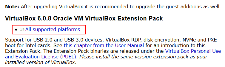 How to install VirtualBox Extension Pack – downloading the extension pack from the official web site