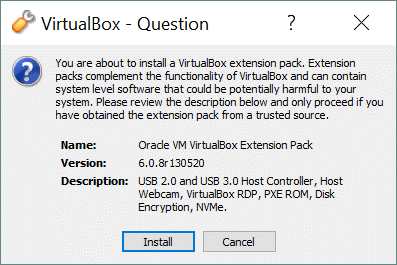 How to install VirtualBox Extension Pack – the installation process