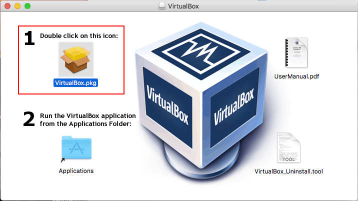 How to update VirtualBox on Mac – opening the installation package for running update