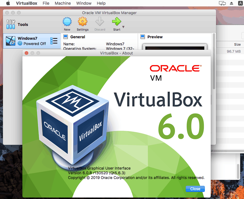 How to update VirtualBox on Mac – the version of VirtualBox is the latest after update.