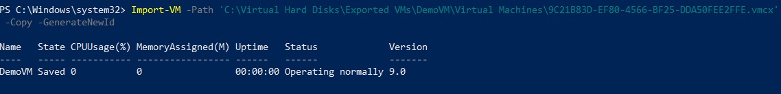 Import as a Copy (How to Import Hyper-V VMs)