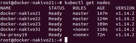Installing Kubernetes cluster on Ubuntu machines is almost complete – more worker nodes can be added.