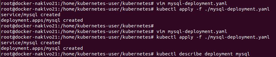Installing Kubernetes on Ubuntu – Creating the MySQL deployment
