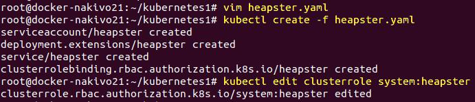 Installing Kubernetes on Ubuntu – deploying Heapster