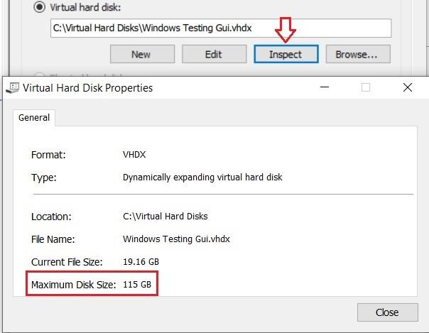 Maximum Disk Size (Hyper-V Shrink VHD)