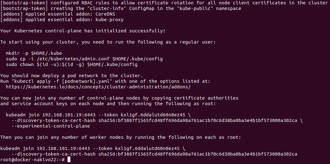 The second master node is initialized in the Kubernetes HA cluster running on Ubuntu machines.