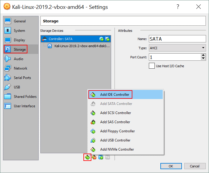 VirtualBox no bootable medium found – adding an IDE storage controller to a VM