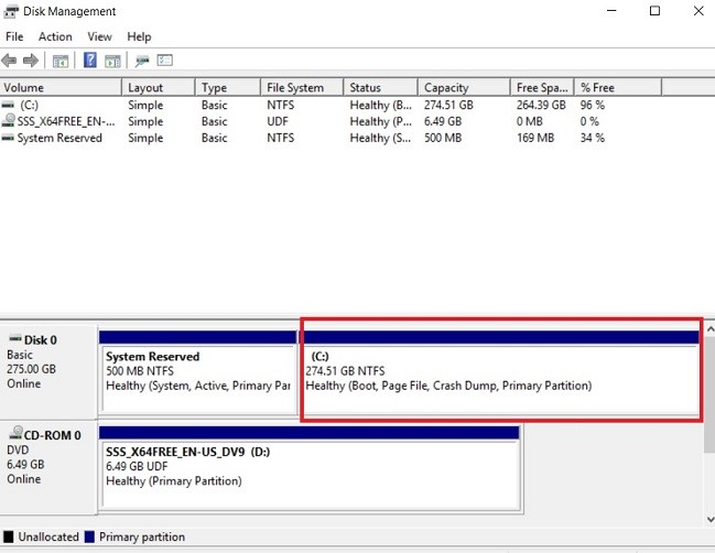 Extended Drive Volume (Increase Disk Size in Hyper-V)