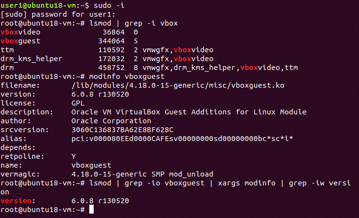 How to install Ubuntu on VirtualBox – checking the version of VirtualBox Guest Additions installed on the Ubuntu VM
