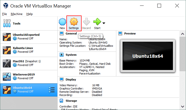 How to install Ubuntu on VirtualBox – configuring VM settings after VM creation