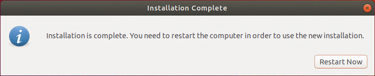 How to install Ubuntu on VirtualBox – the VM must be restarted after Ubuntu installation