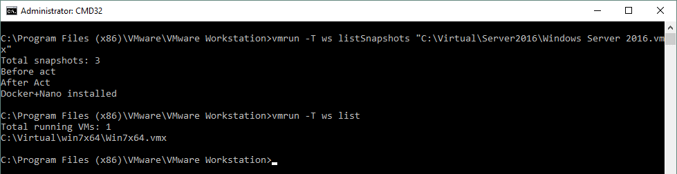 Using VMware CLI (vmrun) for VMware Workstation Pro