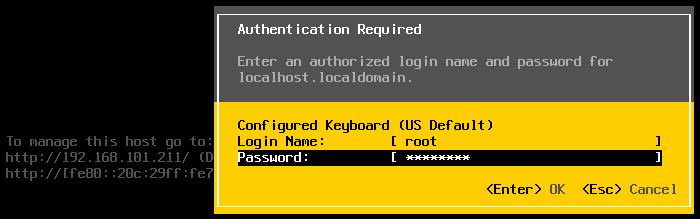 The ESXi password for root is changed after applying a new host profile.