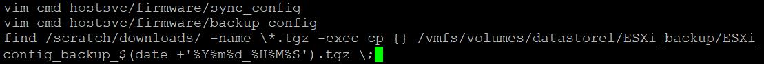 Backup ESXi host configuration – creating a simple backup script