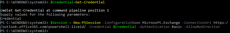 How to connect to Exchange Online PowerShell – creating a new remote session