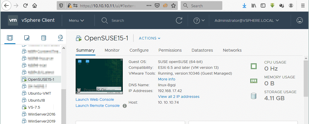A Linux VM has been converted with VMware Converter successfully
