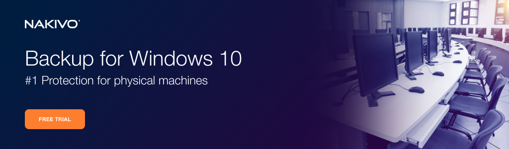 Backup for WIndows 10 Workstations