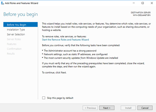 Before you begin (How to Install Hyper-V on Windows Server 2019)