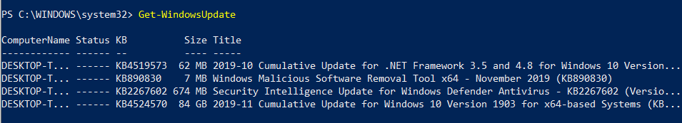 Get Windows Update (automate Windows updates)
