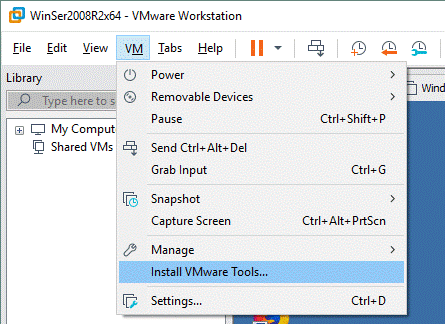 Install VMware Tools on a VM managed in VMware Workstation