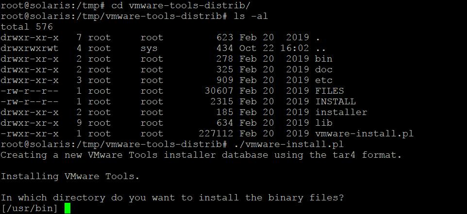 Installing VMware Tools on Solaris