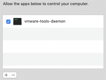 The vmware-tools-daemon is blocked after VMware Tools installation on macOS