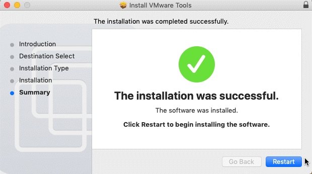 VMware Tools installed on macOS