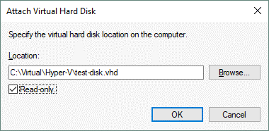 Attaching a VHD disk in Windows