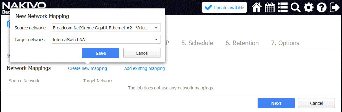 Configuring a network mapping rule (Hyper-V Nested Virtualization)
