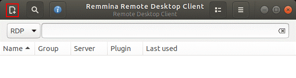 Creating a new RDP connection preset in Remmina