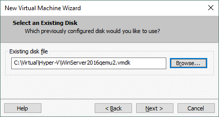 How to import VHD to VMware Workstation after converting to VMDK