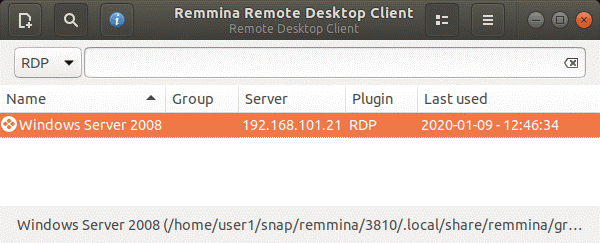 Remote desktop protocol Ubuntu – connecting to the remote Windows machine