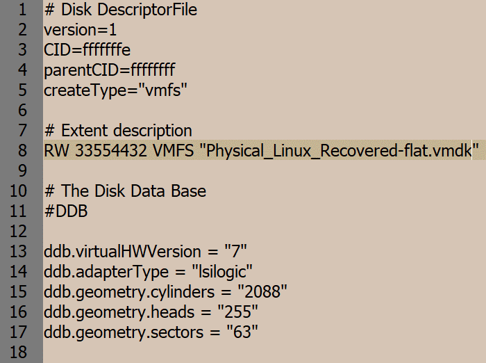 Editing a virtual disk descriptor after renaming virtual disk files