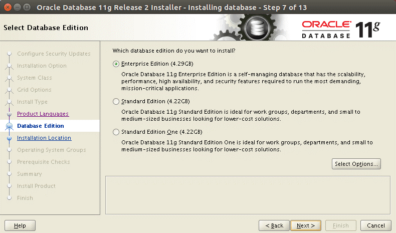 How to install Oracle 11g on Ubuntu – installing Oracle Enterprise edition