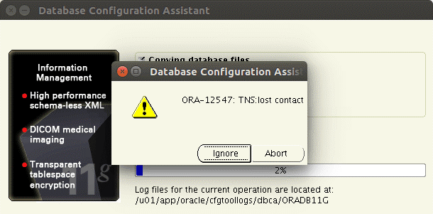How to install Oracle on Ubuntu – ORA-12547 TNS lost contact